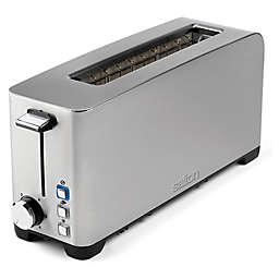 Salton® Space-Saving Long Slot Stainless Steel Electronic Toaster