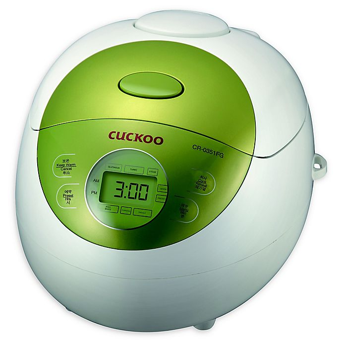Alternate image 1 for Cuckoo CR-0351FG 3-Cup Rice Cooker in Green