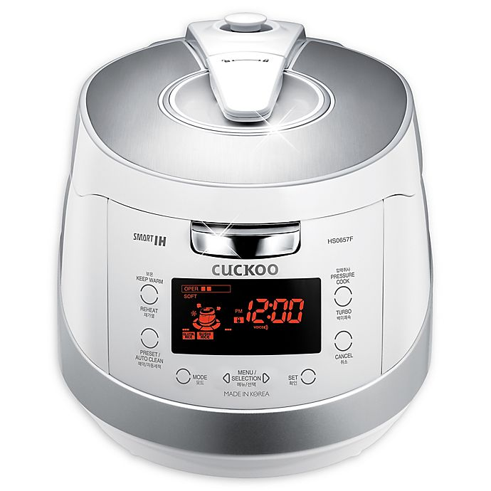 Alternate image 1 for Cuckoo Electronics® CRP-HS0657FW 6 Cup Induction Heating Pressure Rice Cooker & Warmer in White