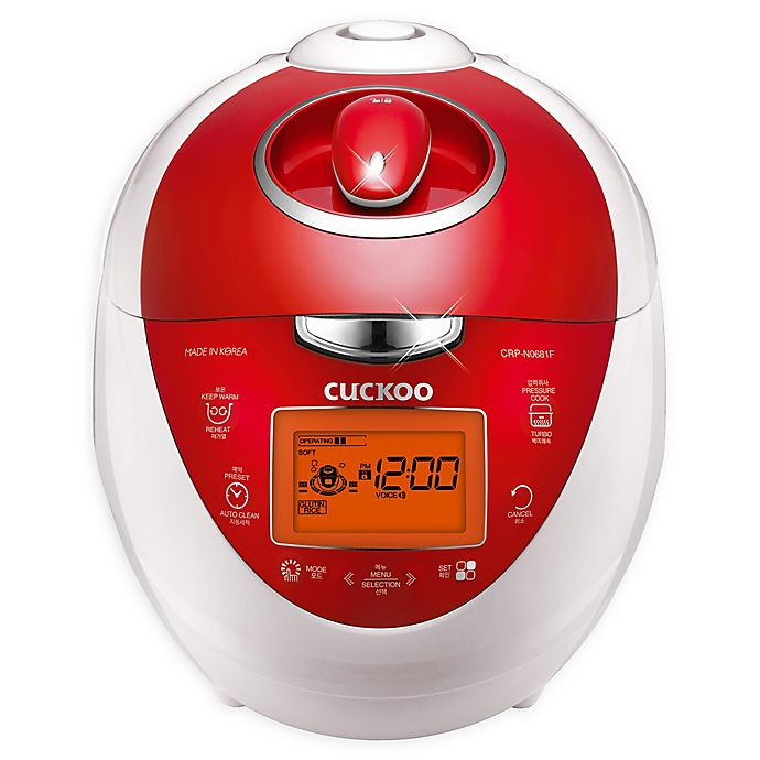 Alternate image 1 for Cuckoo Electronics® CRP-N0681FV 6 Cup Heating Pressure Rice Cooker & Warmer in Red/White