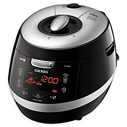 Cuckoo CRP-HY1083F Black Pebble 10-Cup Rice Cooker in Black
