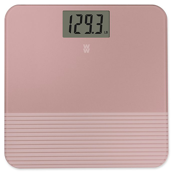 Alternate image 1 for Weight Watchers by Conair® Sandblasted Bathroom Scale in Blush