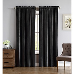 Truly Soft Everyday Pleated Velvet 84-Inch Window Curtain Panel Pair
