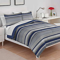 IZOD® Collegiate Stripe Reversible Comforter Set
