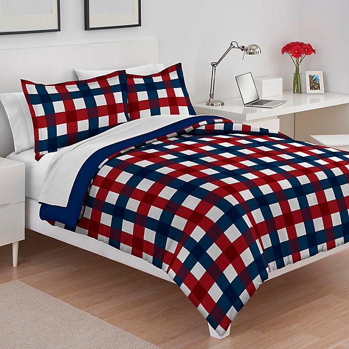 Izod 174 Buffalo Check Reversible Comforter Set Bed Bath