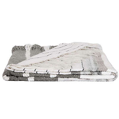 Bee & Willow™ Home Shag Throw Blanket in Grey
