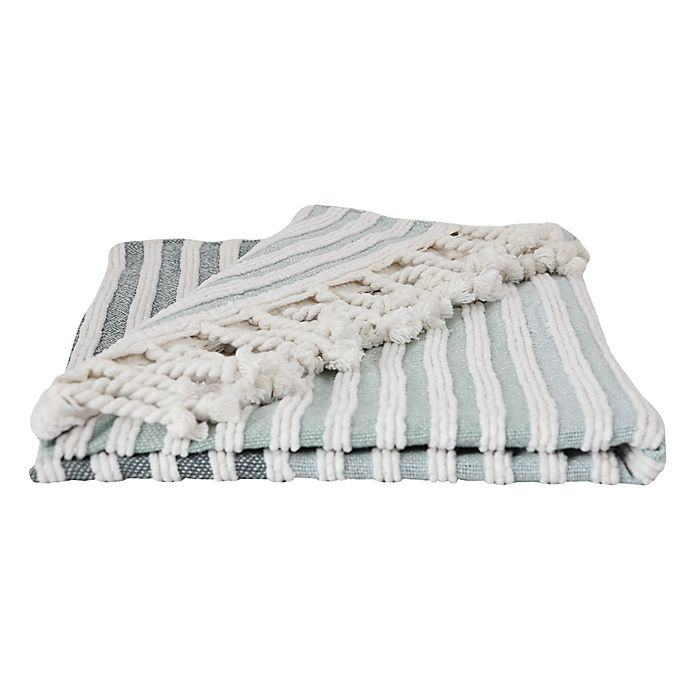 Alternate image 1 for Bee & Willow™ Home Striped Throw Blanket in Navy