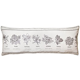 Bee & Willow™ Home Flower Types Oblong Throw Pillow in Ivory