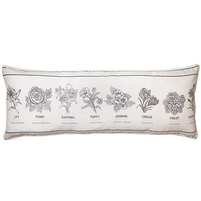 Alternate image 1 for Bee & Willow™ Home Flower Types Oblong Throw Pillow in Ivory