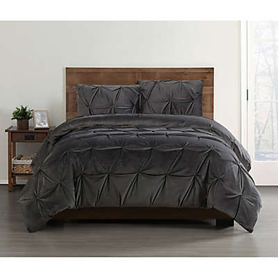 Truly Soft Everyday Pleated Velvet Comforter Set