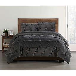 Truly Soft Everyday Pleated Velvet Comforter Set
