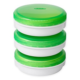 OXO Good Grips® 2 oz. On-the-Go Dressing Containers in Green/White (Set of 3)
