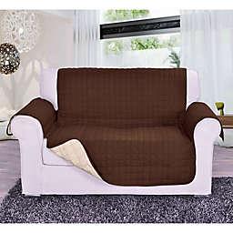 Reversible Love Seat Furniture Protector in Chocolate/Cream