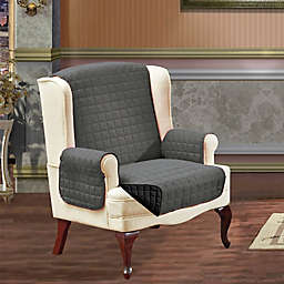 Reversible Wing Chair Furniture Protector in Grey/Black