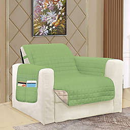 Smart Solid Microfiber Accent Chair Cover