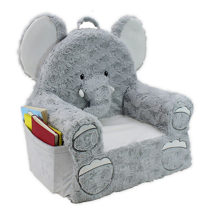 Elephant//Gray Trend Lab Childrens Plush Character Chair