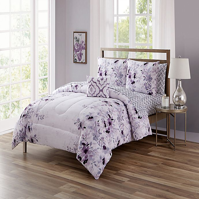 Alternate image 1 for Giselle Queen 12-Piece Comforter Set in Purple