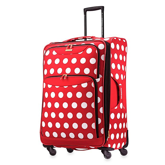 Alternate image 1 for American Tourister® Disney® 28-Inch Polka Dot Spinner Checked Luggage