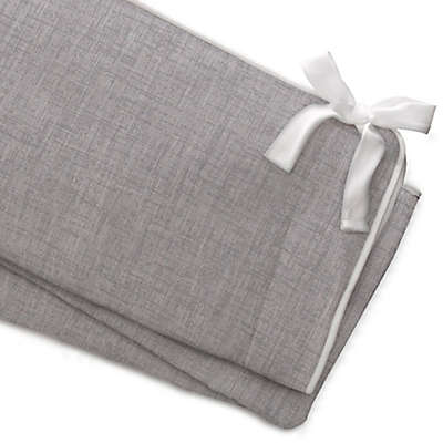 Liz and Roo Crosshatch Rail Guard Cover in Grey