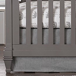 Liz and Roo Crosshatch Crib Skirt in Grey