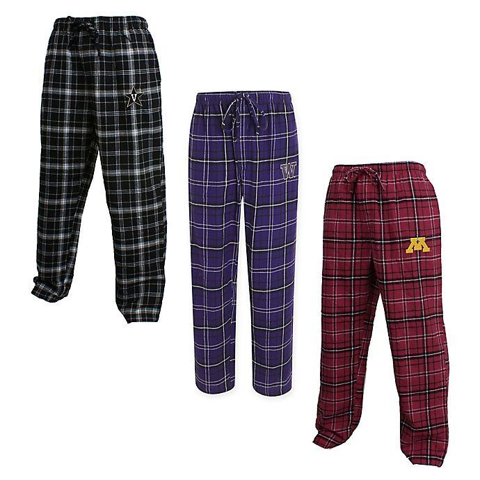 Alternate image 1 for Collegiate Men's Flannel Plaid Pajama Pant with Left Leg Team Logo