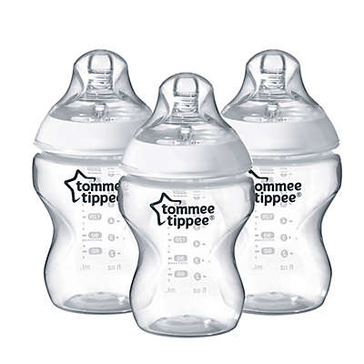 Tommee Tippee® Closer to Nature 3-Pack 9 oz. Clear Baby Bottles