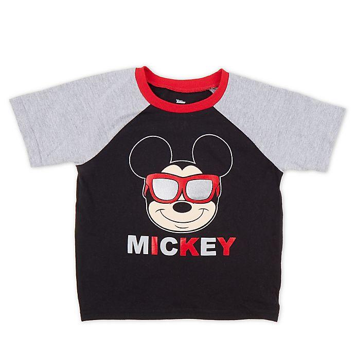Alternate image 1 for Disney® Sunglasses Mickey T-Shirt in Black