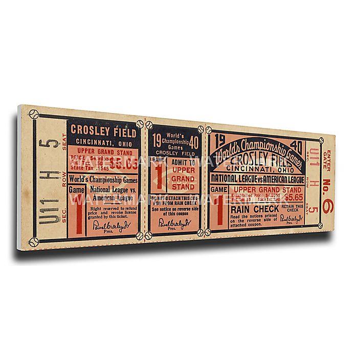 Alternate image 1 for MLB Cincinnati Reds Sports 9-Inch x 34-Inch Framed Wall Art