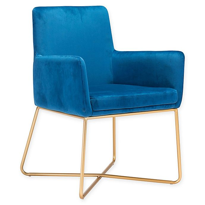 Alternate image 1 for Zuo® Honoria Armchair in Blue