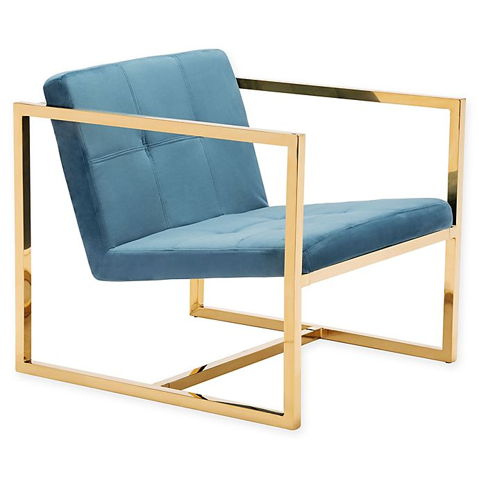 Alternate image 1 for Zuo® Alain Arm Chair in Blue