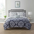 Cambridge Queen 12-Piece Comforter Set in Navy