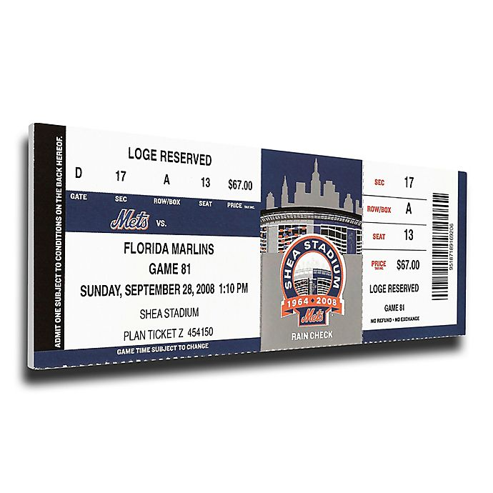 MLB New York Mets Sports 13-Inch x 33-Inch Framed Wall Art
