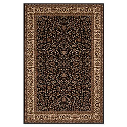 Concord Global Trading Jewel Kashan 2' x 3'3 Accent Rug in Black