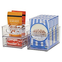 iDesign® Kitchen Binz 10.3-Quart Box with Lid in Clear (Set of 3)