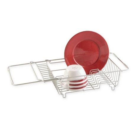Idesign 174 Classico Steel Over Sink Dish Drainer In Satin