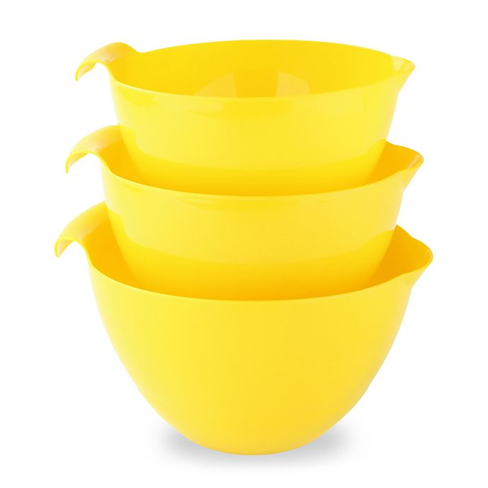Alternate image 1 for Linden Sweden 3-Piece Mixing Bowl Set in Yellow