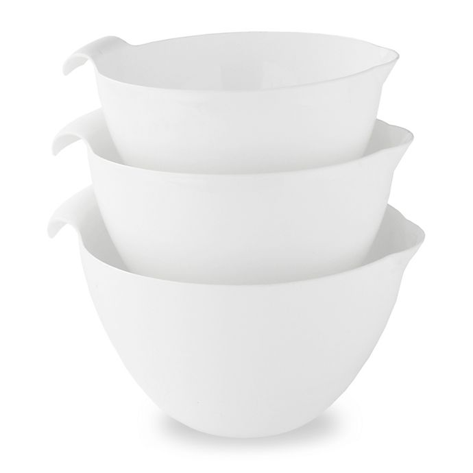 Alternate image 1 for Linden Sweden 3-Piece Mixing Bowl Set in White