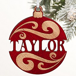You Name It Wood Ornament