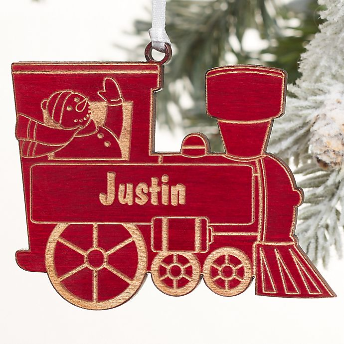 Alternate image 1 for Holiday Train Personalized Ornament