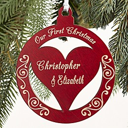 Bless Our Family Personalized Wood Christmas Ornament