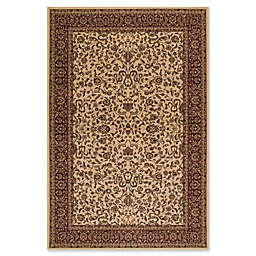 Concord Global Trading Jewel Kashan 2'7 x 5' Area Rug in Ivory