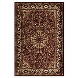 Concord Global Isfahan 2'7 x 4' Accent Rug in Red
