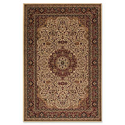 Concord Global Isfahan 2'7 x 5' Accent Rug in Ivory