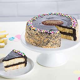 Bake Me A Wish Golden Fudge Celebration Happy Birthday Cake