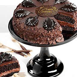 Chocolate Mousse Torte Seasons Happy Birthday Cake