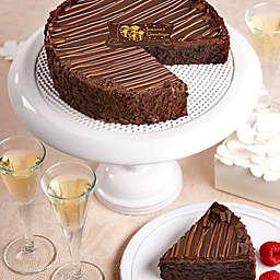 Triple Chocolate Seasons Greetings Brownie Cake