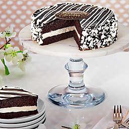 Black and White Mousse Happy Birthday Cake