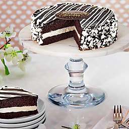 Black and White Mousse Happy Birthday Cake