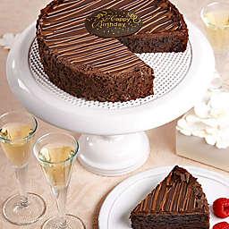 Triple Chocolate Happy Birthday Brownie Cake