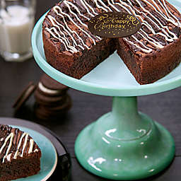 Cookies and Cream Happy Brownie Birthday Cake